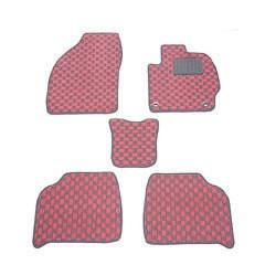 天野 AMANO フレア 年式:H24〜 フロアマット一式 チェック [カラー:ブラック×ピンク] カー用品