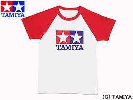 TAMIYA タミヤ オリジナルグッズ ラグランTシャツ半袖 (赤) L 玩具