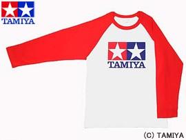 TAMIYA タミヤ オリジナルグッズ ラグランTシャツ長袖 (赤) S 玩具