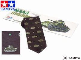 TAMIYA タミヤ オリジナルグッズ タミヤネクタイ・M4シャーマン (茶) 玩具