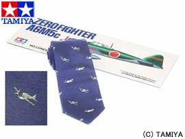 TAMIYA タミヤ オリジナルグッズ タミヤネクタイ・零戦52型 (紺) 玩具