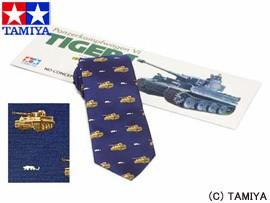 TAMIYA タミヤ オリジナルグッズ タミヤネクタイ・タイガーI型 (紺) 玩具