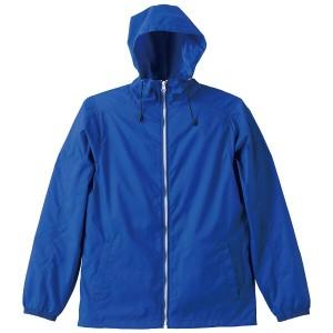 ユナイテッドアスレ ナイロン フルジップジャケット(一重) [カラー:ブルー×ホワイト] [サイズ:L] #702501-4701 UNITED ATHLE 22%OFF