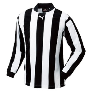 プーマ PUMA ストライプJR長袖ゲームシャツ [カラー:ブラック×ホワイト] [サイズ:160] #903298-05 スポーツ・アウトドア