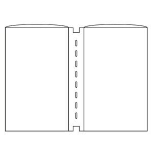 えいむ ピンホールメニューブック専用ビニール GBB-B5 (10枚入) AIM キッチン用品