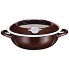 パール金属 PEARL METAL ジーヴォ ホーロー 温度計付き 天ぷら鍋 23cm ブラウン キッチン用品