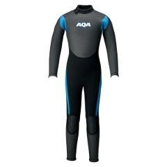 エーキューエー AQA キッズスキンフルスーツ3 [カラー:ブラック×ブルー] [サイズ:120] #KW-4507A-66 送料無料 スポーツ・アウトドア