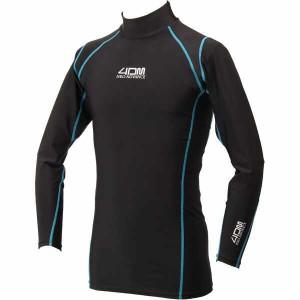 フォーディーエム ネオアドバンス メンズロングスリーブシャツ コンプレッションウェア [サイズ:S] [カラー:ブラック] #4DMX0200-BL