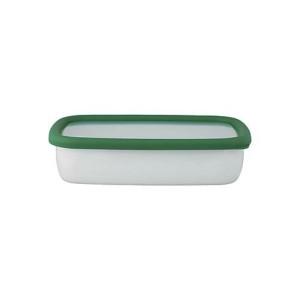 富士ホーロー FUJIHORO コンテ ホーロー浅型角容器M KE-M・MG モスグリーン キッチン用品