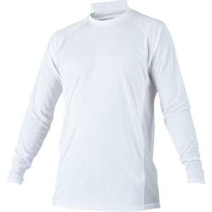 ゼット ZETT ローネック長袖ハイブリッドアンダーシャツ [カラー:ホワイト] [サイズ:XO] #BO8710-1100 スポーツ・アウトドア