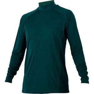ゼット ZETT ハイネック長袖ハイブリッドアンダーシャツ [カラー:グリーン] [サイズ:O] #BO8720-4800 スポーツ・アウトドア