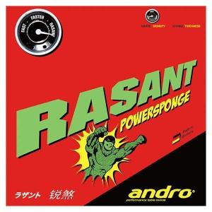 アンドロ 裏ソフトラバー RASANT POWERSPONGE(ラザントパワースポンジ) [カラー:レッド] [サイズ:2.1] #112217-RD ANDRO 送料無料
