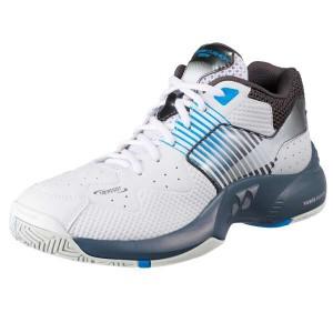 ヨネックス YONEX テニスシューズ パワークッションワイド135 [カラー:ホワイト×ブルー] [サイズ:23.5cm] #SHT-135W-207