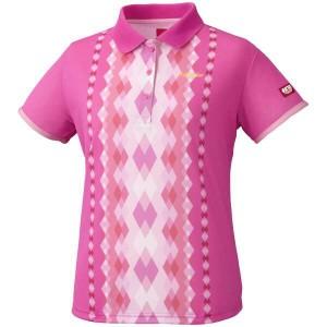 ニッタク ダイヤシャツ レディース 卓球ウェア [カラー:ピンク] [サイズ:O] #NW-2169-21 NITTAKU 送料無料 11%OFF