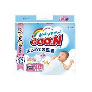 大王製紙 DAIO PAPER グーン はじめての肌着 テープ 新生児用 114枚 ベビー・キッズ用品