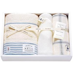 今治タオルジャパン IMABARI TOWEL JAPAN コンテックス タオルセット ブルー KA-4036BL 衣料品・布製品・服飾用品