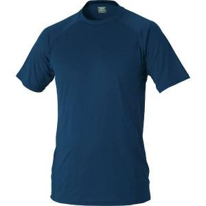 ゼット ZETT ハイブリッドアンダーシャツ ローネック半袖 [サイズ:S] [カラー:パープル] #BO1710-7400 スポーツ・アウトドア
