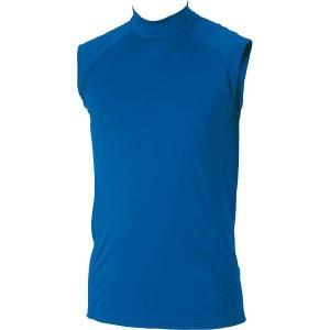 ゼット ZETT ハイブリッドアンダーシャツ ハイネックノースリーブ [サイズ:XO] [カラー:ロイヤルブルー] #BO7720-2500