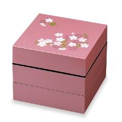 送料無料 【正和】宇野千代 ランチボックス オードブル重 3段 あけぼの桜 ピンク SHOWA キッチン用品  ポイント10倍