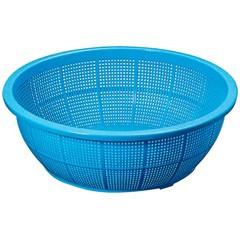 池田プラスチック販売 IKEDA PLASTIC HANBAI イケダ DX丸 ザル(ブルー) #420 キッチン用品