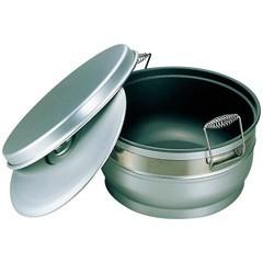 17%OFF 送料無料 【オオイ金属】アルマイト スミフロン 二重食缶(お枢型) 264-B 10L OOI KINZOKU キッチン用品
