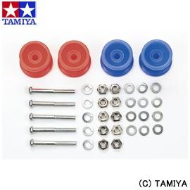 タミヤ TAMIYA ミニ四駆グレードアップパーツ GP.457 2段低摩擦プラローラーセット (赤・青13-12mm) 玩具