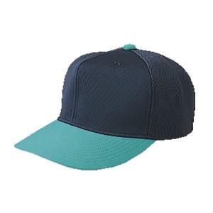 レワード 六方型半メッシュキャップ 野球キャップ [カラー:ネイビー×エメラルドグリーン] [サイズ:X(頭回り60〜63cm)] #CP-14 REWARD