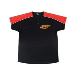 レワード ジュニア2ボタンメッシュシャツ 野球ユニフォームシャツ [カラー:Dネイビー×レッド] [サイズ:140] #JUS-111 REWARD
