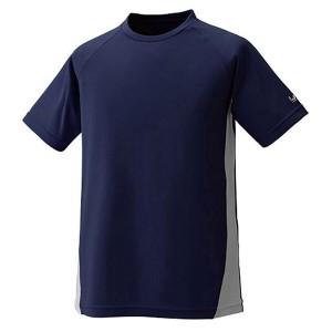 送料無料 プロモンテ トリプルドライカラット 半袖Tシャツ(メンズ) [カラー:ネイビー×グレー] [サイズ:XL] #TN143M PUROMONTE