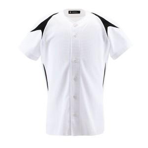 野球用 ユニフォームシャツ カラーコンビネーションシャツ(フルオープン) DB-1013 [サイズ:XO] #DB-1013 スポーツ・アウトドア