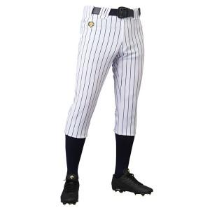 デサント 野球用 ユニフィットパンツ レギュラーパンツ(ピンストライプ) [カラー:Sホワイト×ネイビー] [サイズ:XO] #DB-7010P
