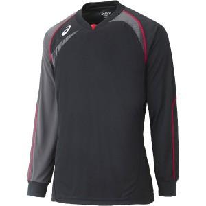 アシックス ASICS バレーボール用 ゲームシャツLS XW1319 [カラー:ブラック×カーボン] [サイズ:L] #XW1319 スポーツ・アウトドア