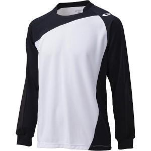 6%OFF 送料無料 アシックス バレーボール用 ゲームシャツLS XW1322 [カラー:ホワイト×ブラック] [サイズ:M] #XW1322 ASICS