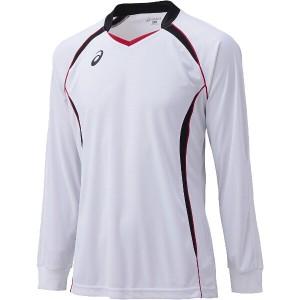 アシックス ASICS バレーボール用 ゲームシャツLS XW1320 [カラー:ホワイト×ブラック] [サイズ:140] #XW1320 スポーツ・アウトドア