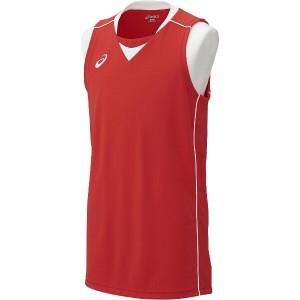 アシックス ASICS バスケットボール用 ゲームシャツ XB1355 [カラー:レッド×ホワイト] [サイズ:O] #XB1355 スポーツ・アウトドア