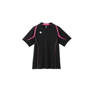 デサント DESCENTE ハーフスリーブ ライトゲームシャツ [カラー:ブラック×ピンク] [サイズ:L] #DSS-5520 スポーツ・アウトドア