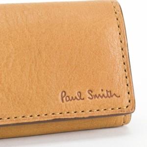 ポールスミス Paul Smith キーケース キーリング付き キャメル psu562-75 メンズ 紳士