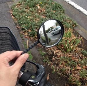 自転車用バックミラー 広角凸面鏡 曲げ、捻り角度調整も自由自在![メール便発送、送料無料、代引不可]