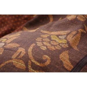 国内プリント こたつ厚掛け布団単品 『万葉』 ブラウン 205×205cm