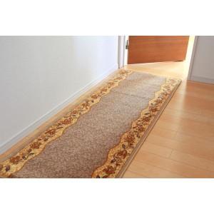 廊下敷き ナイロン100% 『リーガ』 ベージュ 約67×340cm 滑りにくい加工