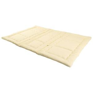 家族用 みんなで使える敷布団/寝具 【4人用 240×200cm】 抗菌防臭 綿混素材 〔ベッドルーム 寝室〕