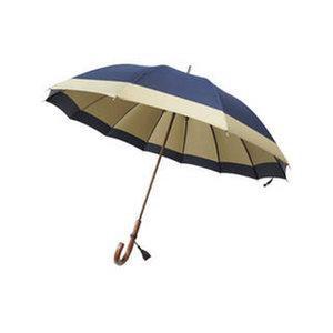 長傘 HM200AG 日本の職人手作り (代引不可) 紳士長傘 【送料無料】 長傘12本骨 雨具 甲州織手開き 日本の職人手作り ネイビー×グレー