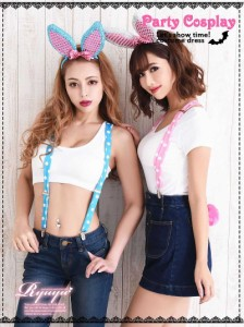 コスプレ 衣装 コスチューム コンパニオン 衣装 パーティー 仮装 Ryuyu バニー かわいい うさぎ 小物セット