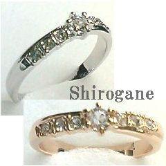 《日本製 オーダーメイド》Shirogane 指輪◆流れるクリスタルラインリング【ri-l-me-kip-om】sign