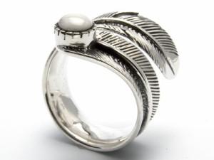 【指輪】シルバーリング◆パワーストーン◆ハウライトフェザー 性格改善・健康 【ri-y-sv-pws yn yo】