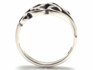 【指輪】シルバー ◆ピンキーリング◆アラベスクxハートモチーフ【ri-l-sv-pi-cow】