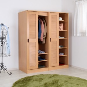ルーバー引き戸クローゼット 棚タイプ 送料無料(一部除く) 衣類 収納