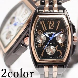 送料無料 【女性用 腕時計】日本製ムーブメント フェイククロノグラフ付き大人可愛いトノー型腕時計 3気圧防水【fh uw lwc】