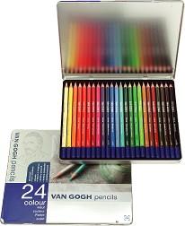 20%off 高品質・リーズナブル ヴァンゴッホ色鉛筆24色セット