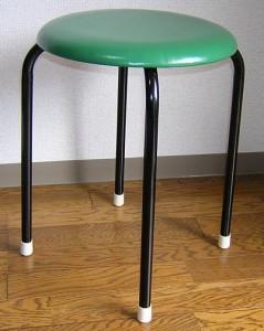 【送料無料】丸いす(緑)10脚セット(日本製) (1脚あたり1040円)丸椅子 丸イス スツール